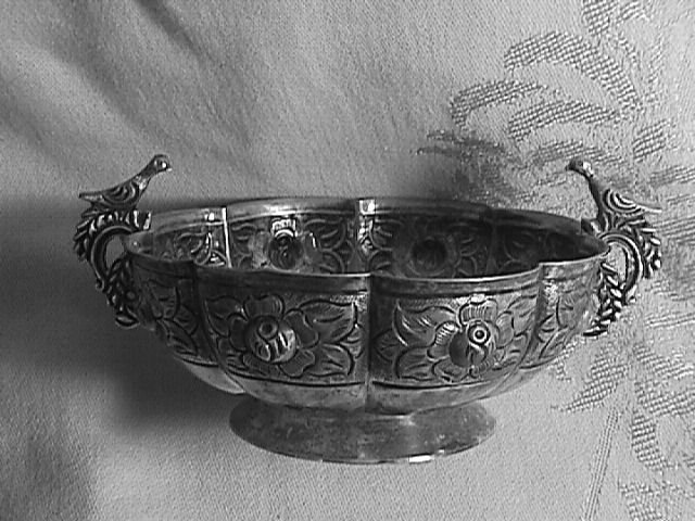 Sterling Silver Bird Handle Bowl-Mexico