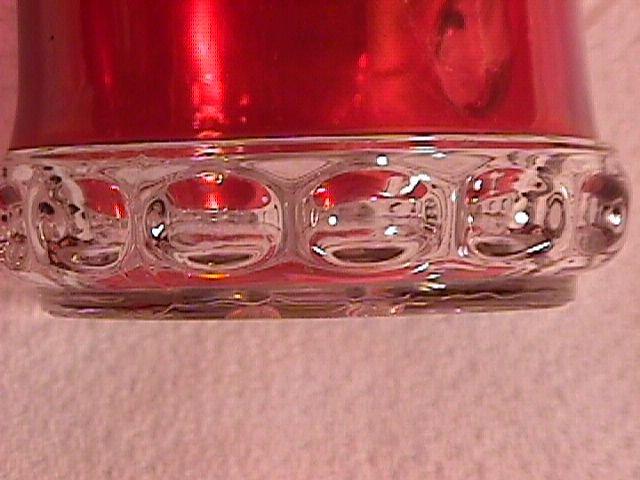 Ruby Flashed-Early Pressed Glass Mug