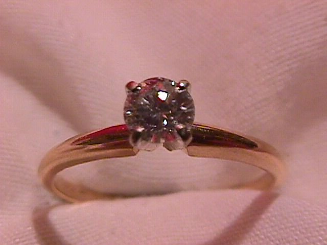 14K Gold Engagement Ring with 1/2 Carat Diamond