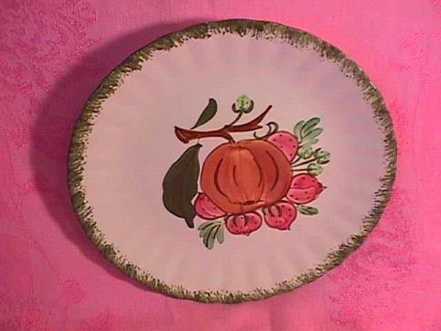 Blue Ridge for Avon Premium Salad Plate (Peach & Strawberries)