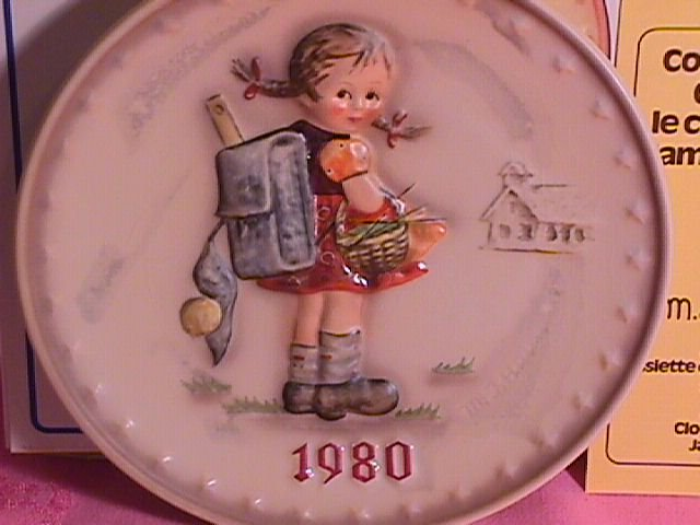 Hummel Annual Christmas Plate-1980 Mint W/Box