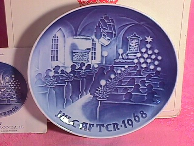 Bing & Grondahl Christmas Plate 1968-Christmas In Church
