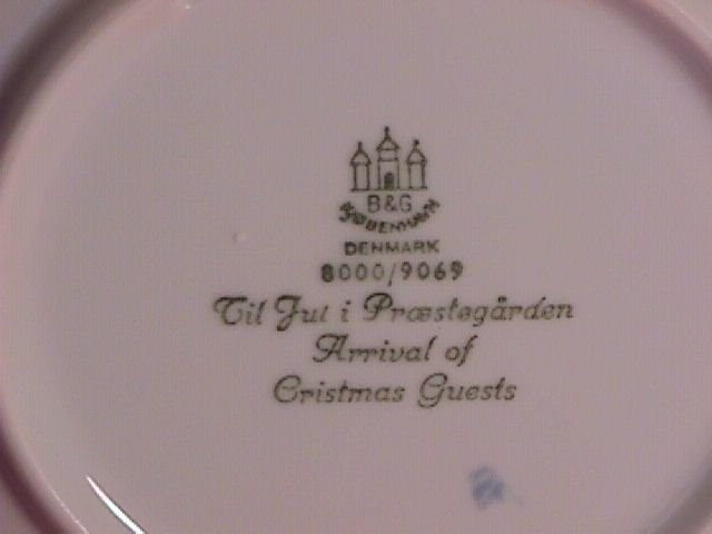 Bing & Grondahl Christmas Plate 1969-Arrival Of Guest