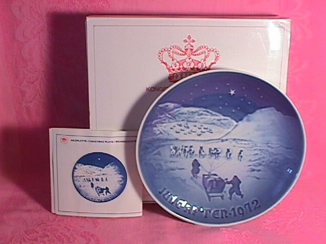 Bing & Grondahl Christmas Plate 1972-Christmas In Greenland