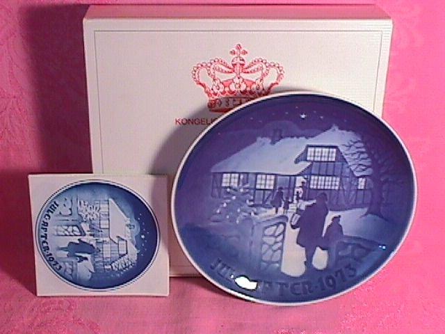 Bing & Grondahl Christmas Plate 1973-Country Christmas