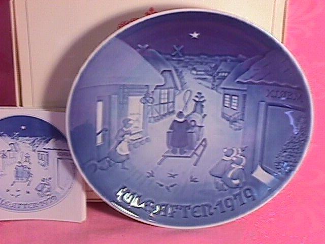 Bing & Grondahl Christmas Plate 1979-White Christmas