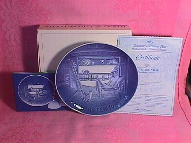 Bing & Grondahl Christmas Plate 1985-Christmas Eve At The Farmhouse
