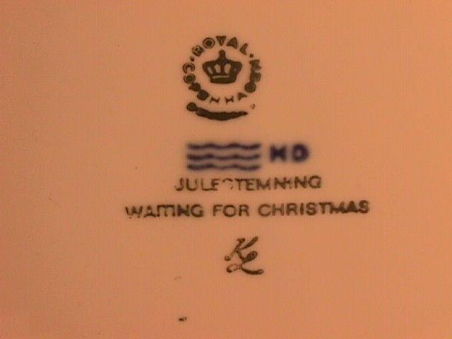 Royal Copenhagen Christmas Plate-1982 Waiting For Christmas