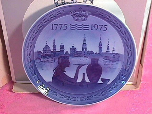 Royal Copenhagen Bicentenary Plate 1775-1975 With Box