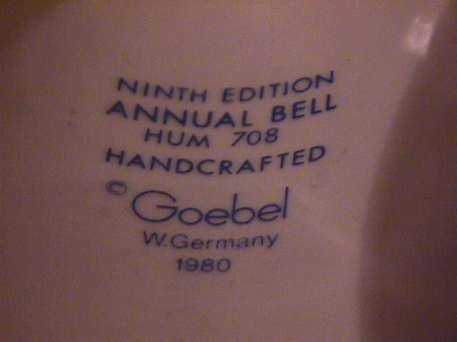 Hummel Annual Bell=1986= 9th Edition:  Sing Along
