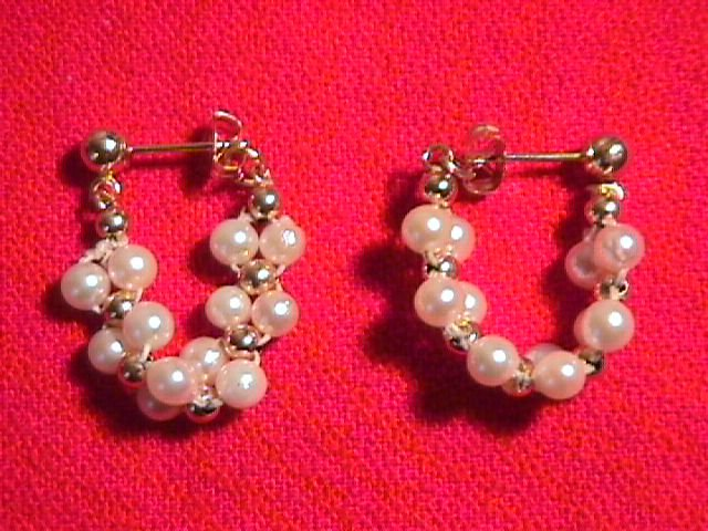 14K Solid Gold & Cultured Pearl Earrings