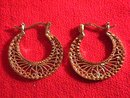 Vermeil Lacework Pierced Earrings