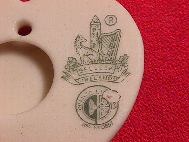 Belleek Porcelaine Heart & Floral Pendant