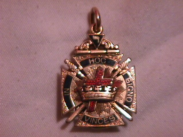 14k Solid Gold Masonic 32 Degree Watch Charm (Book Form)