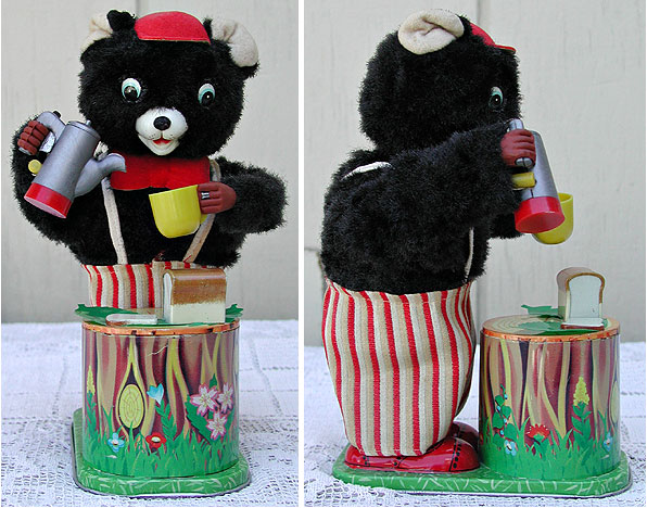 BATTERY OPERATED BEAR having Coffee