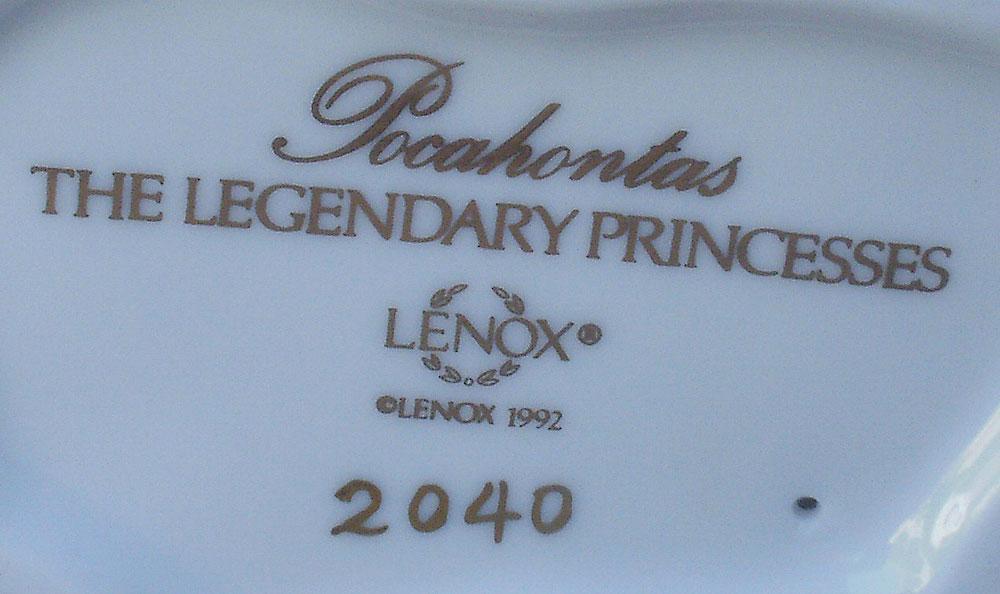 LENOX Legendary Princesses Figurine Pocahontas