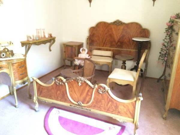 French Provincial bedroom suite (8) pcs.