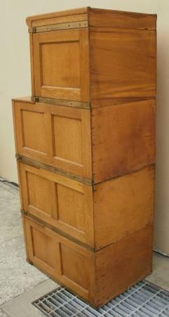 Antique Globe Oak File Cabinet
