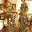 Auguste Moreau, Pair of Bronze Peasants