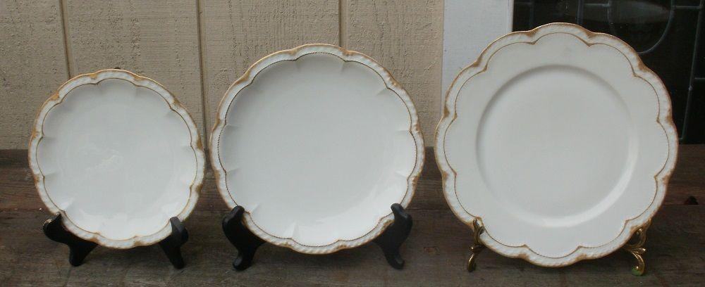 Rare (29 pcs) Vintage Haviland Limoges France Double Brushed Gold Set of China