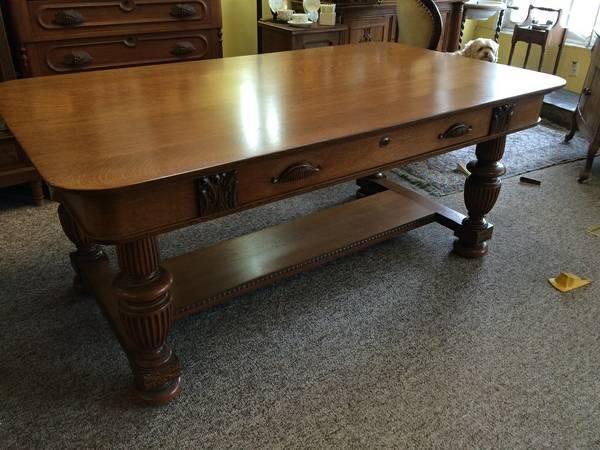 Antique English Oak Partners Desk