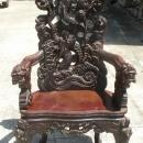 Large Carved Japanese Dragon Chair Rosewood