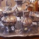 Antique Reed & Barton Silver Plate Tea Set w/Large Tray