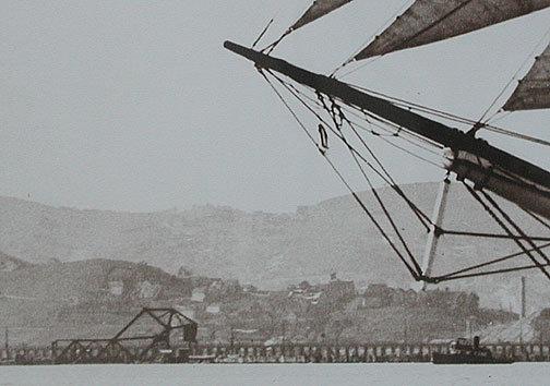 Tall Ship photograph, Large Real Photo, SF Bay