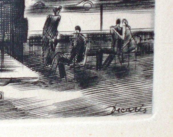 Paris Decaris Signed Framed Engraving