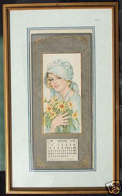 Framed 1918 Calendar Wendell Phillips