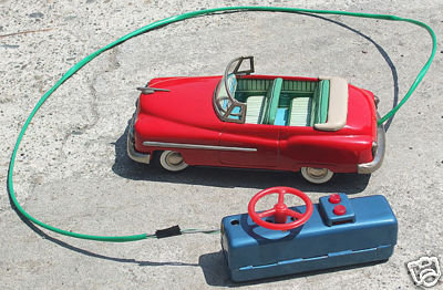 Battery Operated Tin Toy Car Chevy Con