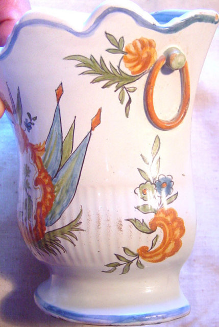 Elegant Louis XV Moustiers Vase