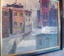 City In Snow, Landscape by Wally Brants