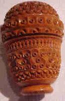 Antique Coquilla Nut Pounce Pot