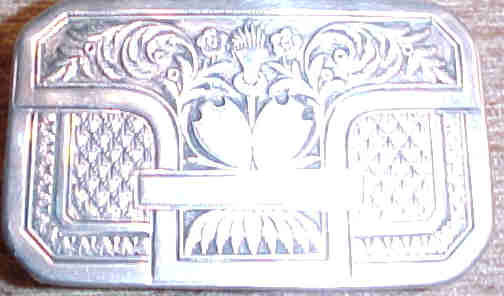 Bohemian Silver Snuffbox:, 1814 - 1819