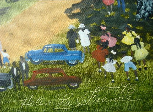 HELEN LAFRANCE FOLK ART PAINTING/ SOUTHERN SELF-TAUGHT