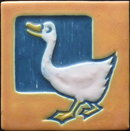Arts and Crafts Mosaic Tile Company Duck Tile