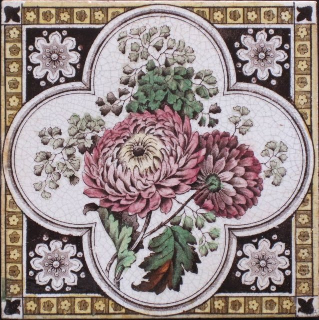 Victorian English Transfer Tile