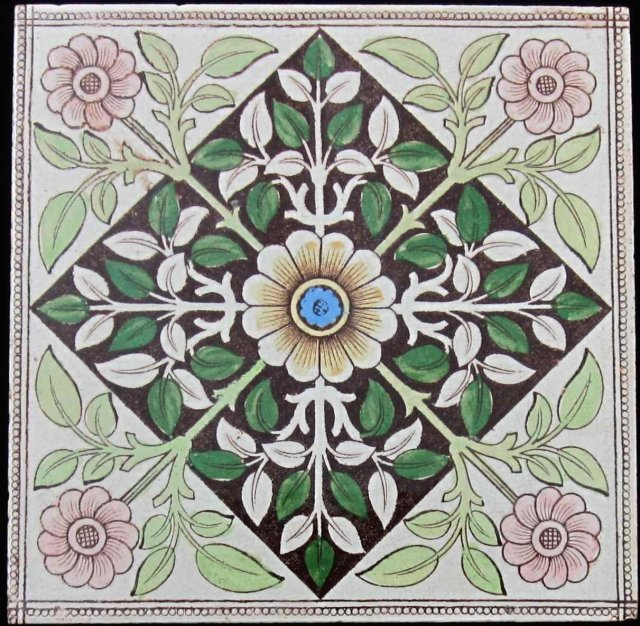 English Transfer Neo-gothic Aesthetic Tile