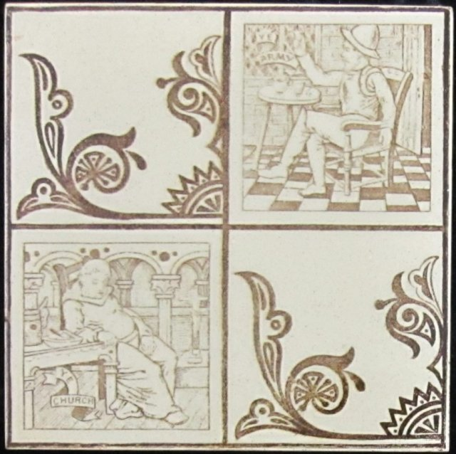 Antique English Picture Tile - Wedgwood