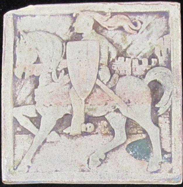 Antique American Caifornia Art Tile
