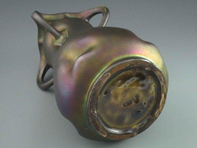 Monumental Austrian Art Nouveau Heliosine Pottery Vase