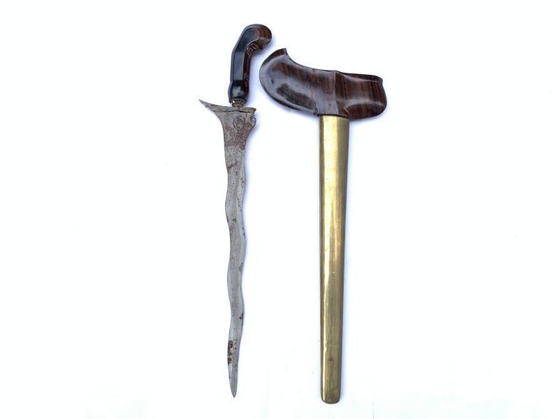 KERIS JAVA 7 Luk WARRIOR PAMOR Lintang Kemukus Weapon Blade Sword Asian Knife