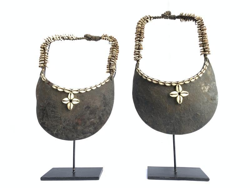 ONE PAIR(Male & Female) 380mm ON STAND Irian Papua NECKLACE JEWELRY BODY NECK
