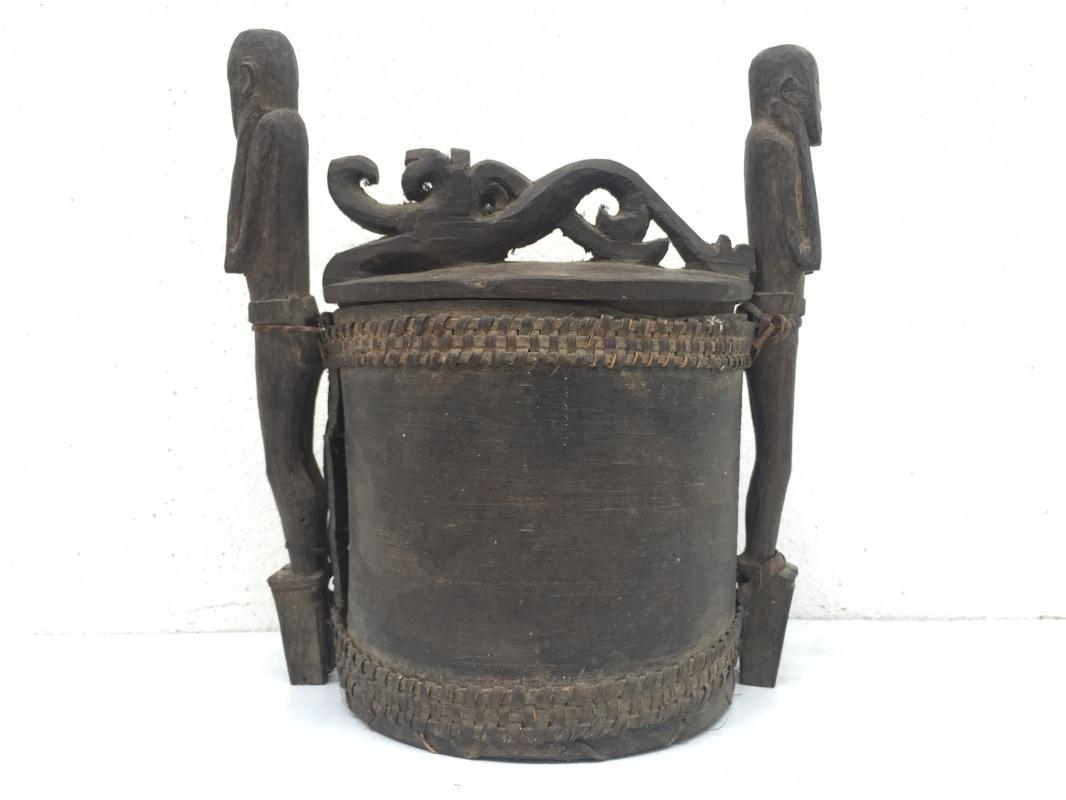 AUTHENTIC ANTIQUE  240mm LUPONG CONTAINER  Medicine Box Chamber Statue Guardian