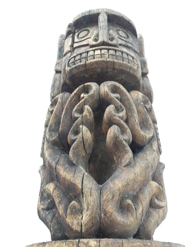 ANTIQUE 520mm KORWAR STATUE Cenderawasih Oceanic Art Sculpture Image Artifact