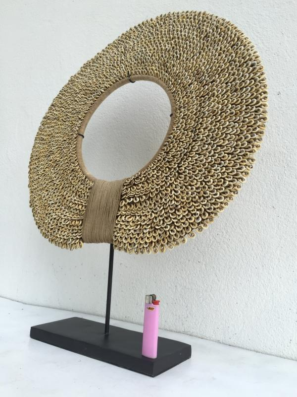 GIANT IRIAN 460mm NECKLACE Seashell Shell FREE STAND Body Jewelry Jewel Bali Art