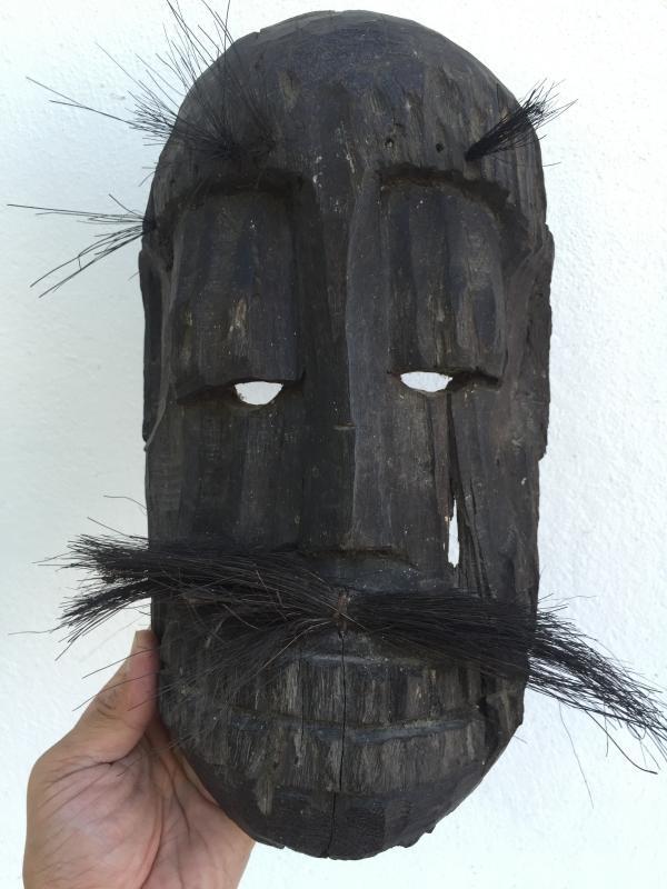 TOPENG DAYAK AHE 310mm PELAIK MASK Borneo Facial Face Dyak Native Tribe Artifact