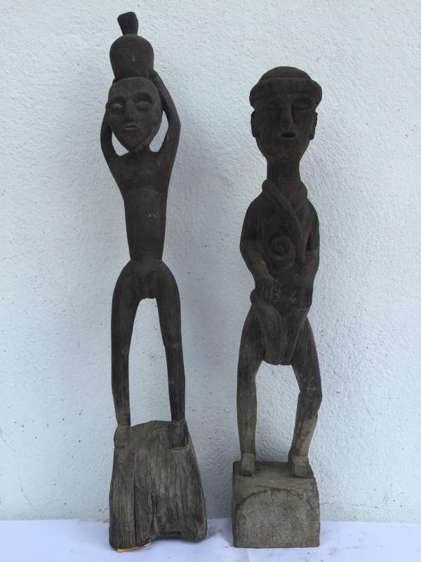 HEADHUNTER 520mm HOME GUARDIAN STATUE Authentic Dayak Primitive Figure Ironwood