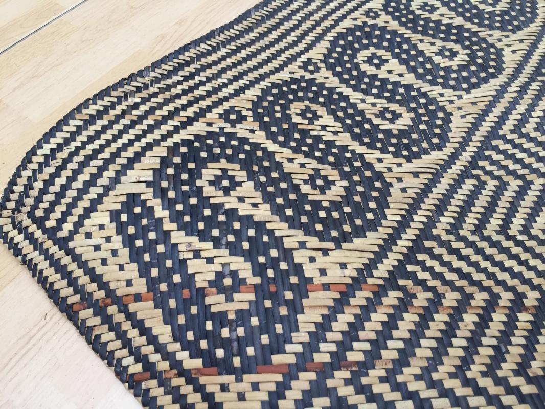 RATTAN SLEEPING MAT Hand Woven Traditional Floor Carpet Cooling Comfortable Rug #3